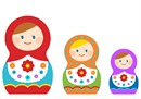 Colorful nesting dolls
