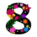 Number Eight Primary Floral