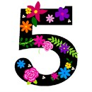 Number Five Primary Floral