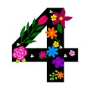 Number Four Primary Floral