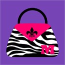 Personalize with your initial on this lovely zebra pocketbook.