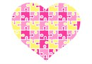 Pink Yellow Heart Puzzle