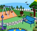 Exciting playground scene for tots with energy.