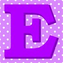 Polka Dot Letter E Purple