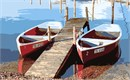 Rowboats waiting for you at the dock.