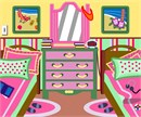A charming bedroom scene for tween sisters.