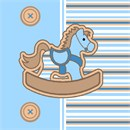 Striped Horsey Blue