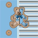 Striped Teddy Blue