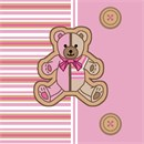 Striped Teddy Pink