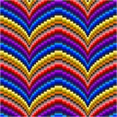 Simple but elegant bargello pattern in an array of colors.