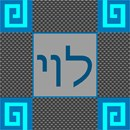 Geometric styled tefillin bag in shades of grey and aqua blue.