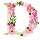 The capital letter D sprouting colorful flowers.