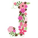 The capital letter J sprouting various floral elements.