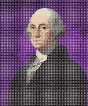 The first president of the United States, General George Washington.