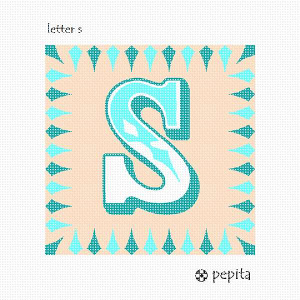 Needlepoint Canvas Letter S