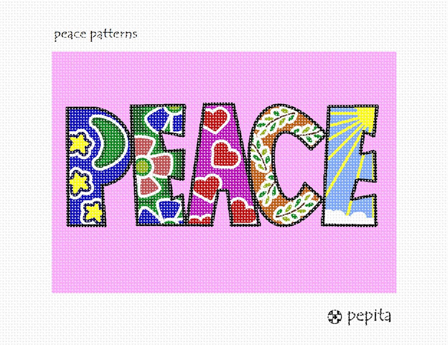Needlepoint Canvas - Peace Patterns