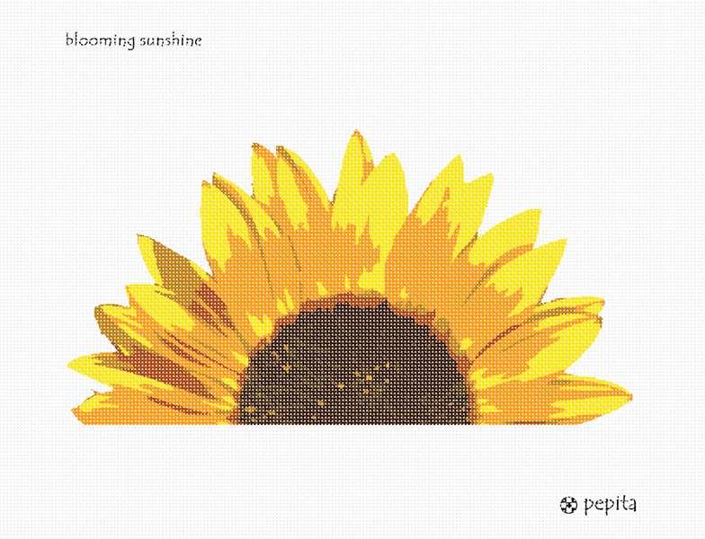Needlepoint Canvas Blooming Sunshine