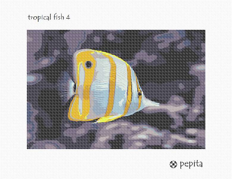Needlepoint Canvas - Tropical Fish 4