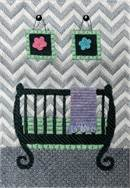 Grey Chevron Uni Baby Crib