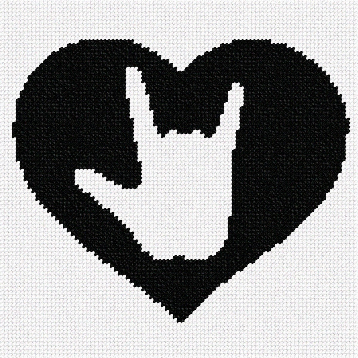 Needlepoint Canvas Asl I Love You