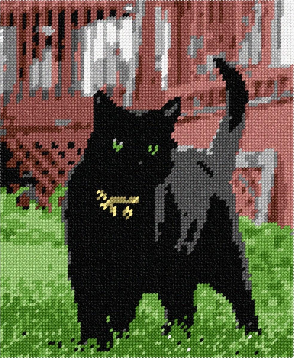 pepita Cat Posing Needlepoint Kit
