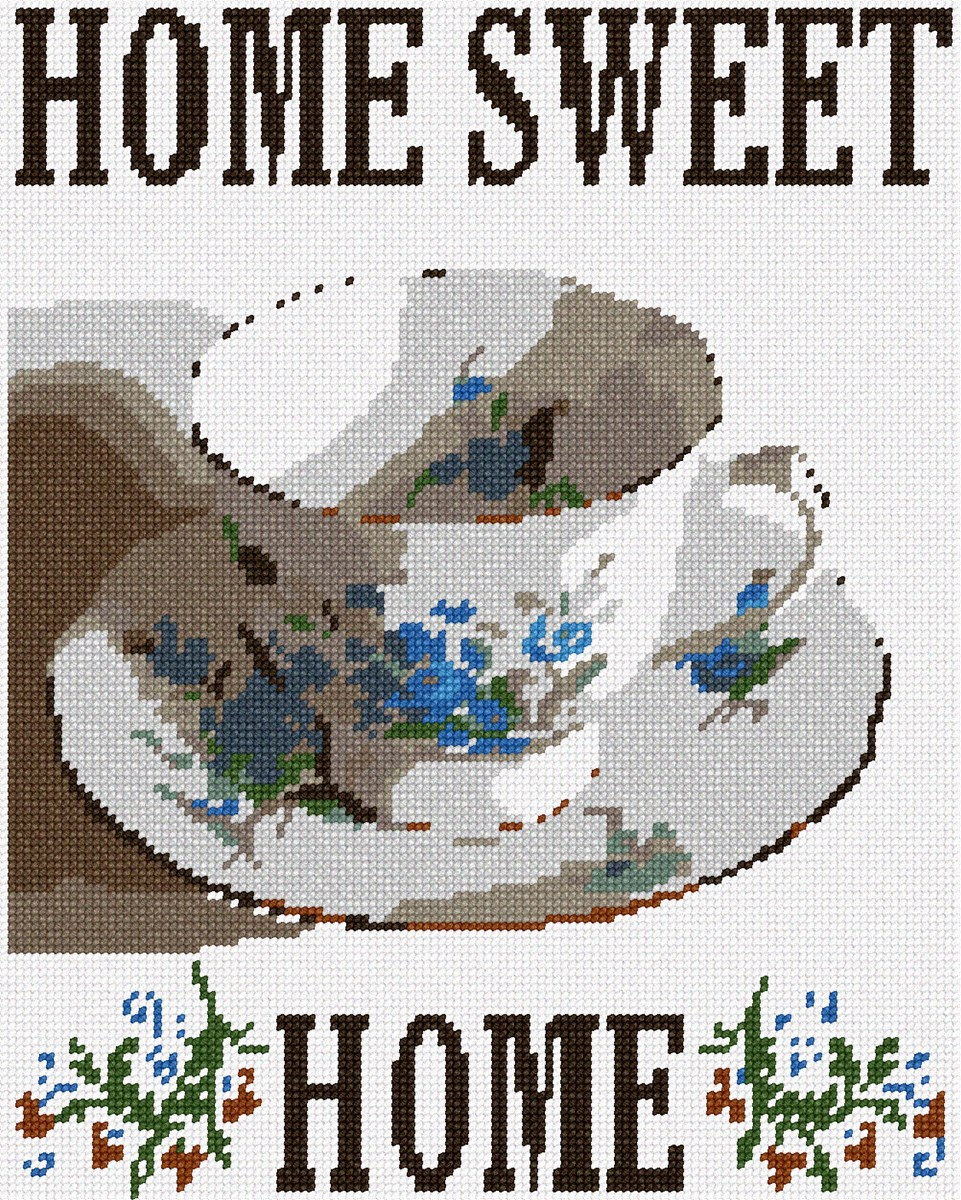 Needlepoint Canvas - Home Sweet Home